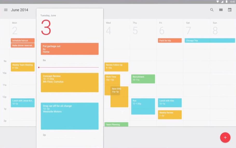 Calendar Material Design Javascript : Google io android l calendar