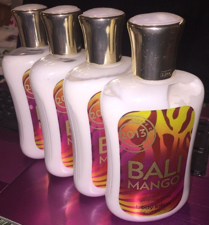 Retired Lotx4 Bath Body Works 2013 Bali Mango 8oz Lotion