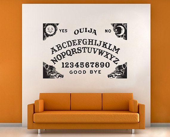 ouija board vinyl wall art decal (wd624) on etsy, $27.99 | homegoods
