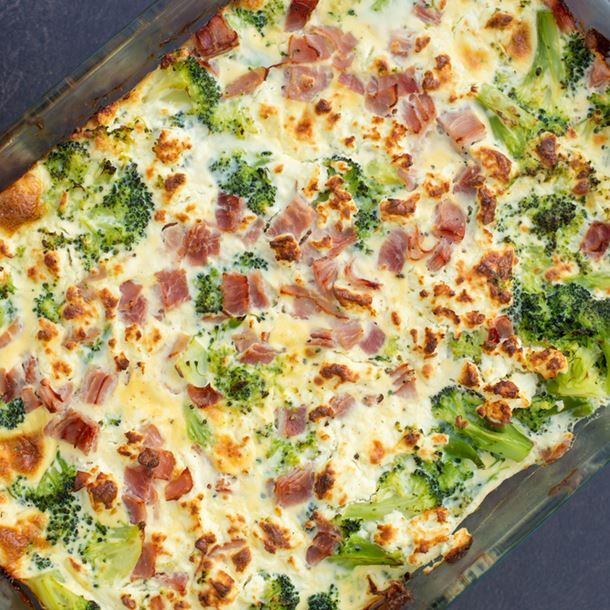 Photo of Broccoli and diced ham flan