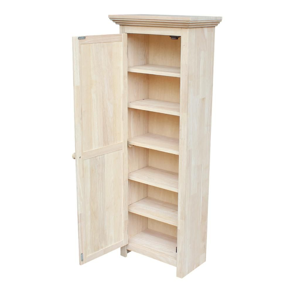 International Concepts Solid Parawood Storage Cabinet In Unfinished Wood Cu 15 The Home Diy Storage Cabinets Wood Storage Cabinets Unfinished Wood Furniture