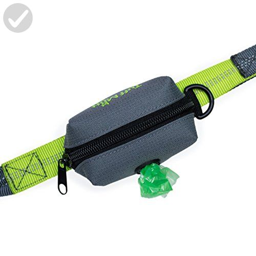 tuff mutt dog poop bag holder leash attachment includes 1 roll of poop bags - Dog Waste Bags