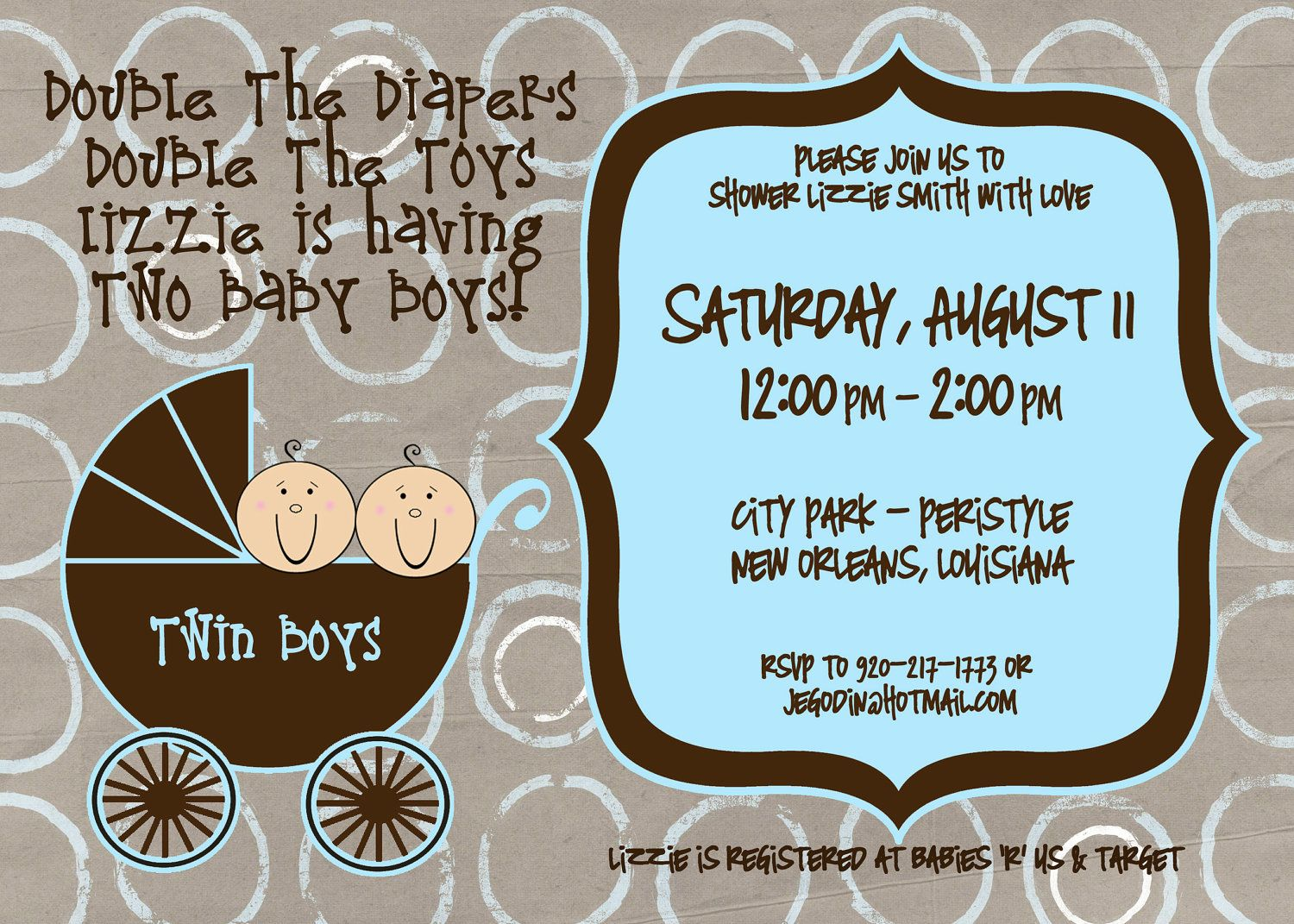 Twin Baby Shower Invitations Images 6 HD Wallpapers | I want ...