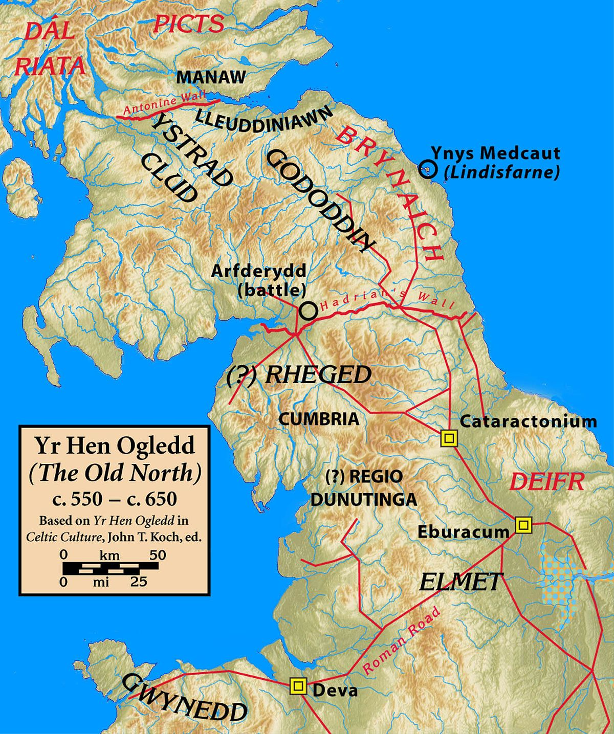 Elmet - West Riding - After the conquest of Elmet, the realm was incorporated into Northumbria on Easter in 627 - Angles of Bernicia - Yorkshire, England