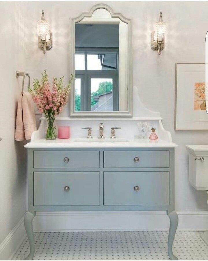 Light Blue Powder Bathroom Bathroom Design Budget Bathroom Beautiful Bathrooms