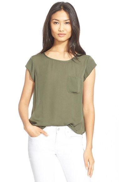 On Silk Shipping Returns Free At 'rancher' Pocket And Joie Top qctfSnfUA