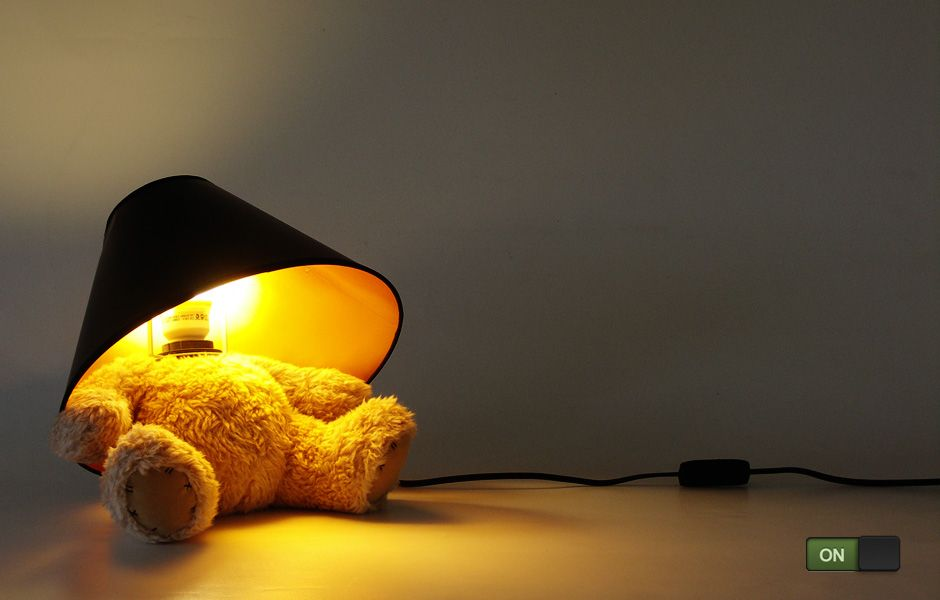 Elegant Teddy Bear Lamp : A Cute Teddy With A Lamp For A Head. Good Ideas
