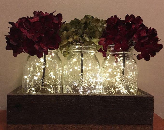 Christmas Centerpiece With Lanterns, Christmas Table Decor