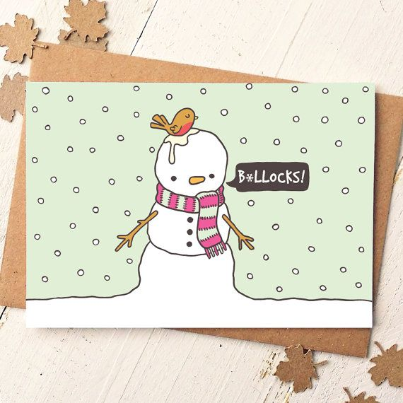 Funny Christmas card from Finch and The Fallow cardenve
