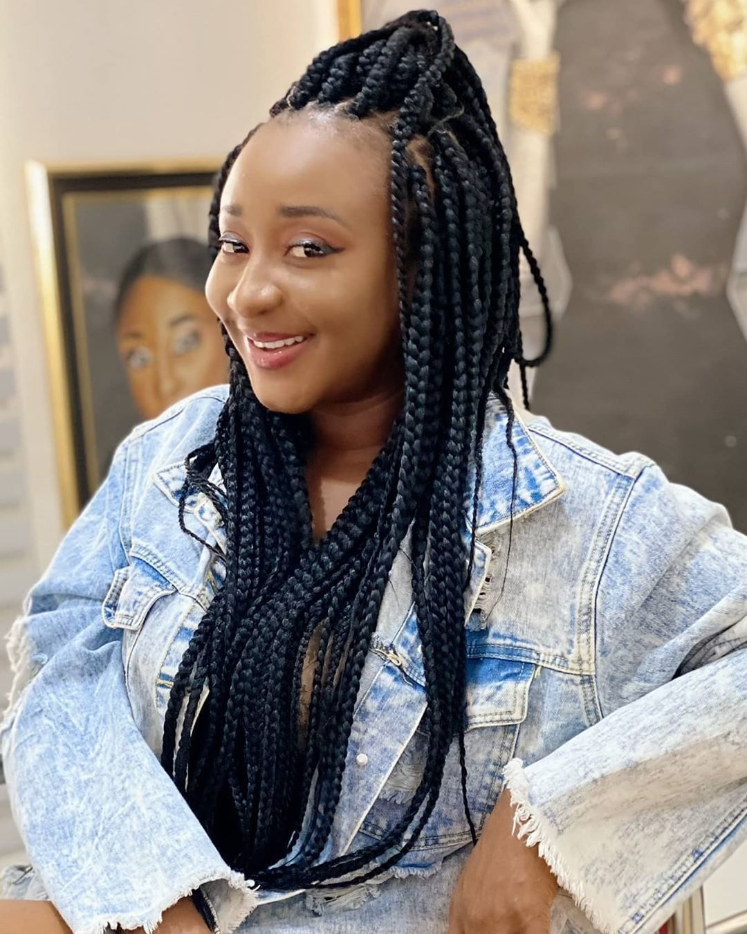 Ini Edo Blesses The Lives Of Dozens Of Her Fans With N10 000 Each Braided Hairstyles For Black Women Black Women Hairstyles Actresses