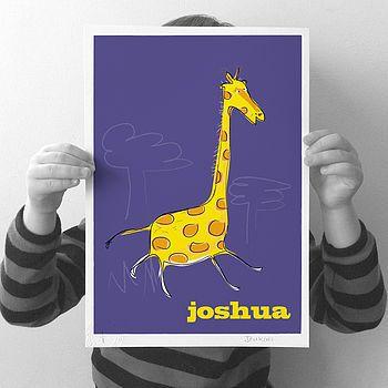 Personalised 'Giraffe' Print