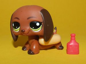 Rare Littlest Pet Shop Lps Hasbro Brown Hot Dog Dachshund Puppy Dog