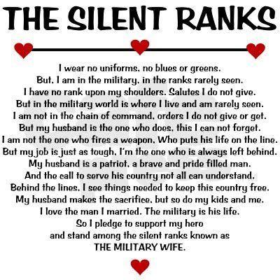 Army Wife Quotes And Poems. QuotesGram | Military wife ...