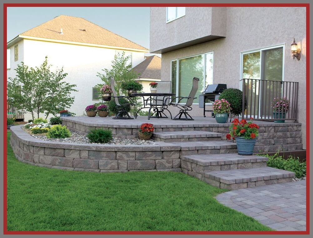 81 Reference Of Raised Patio Retaining Wall Drainage In 2020 Concrete Patio Designs Patio Pavers Design Stone Patio Designs