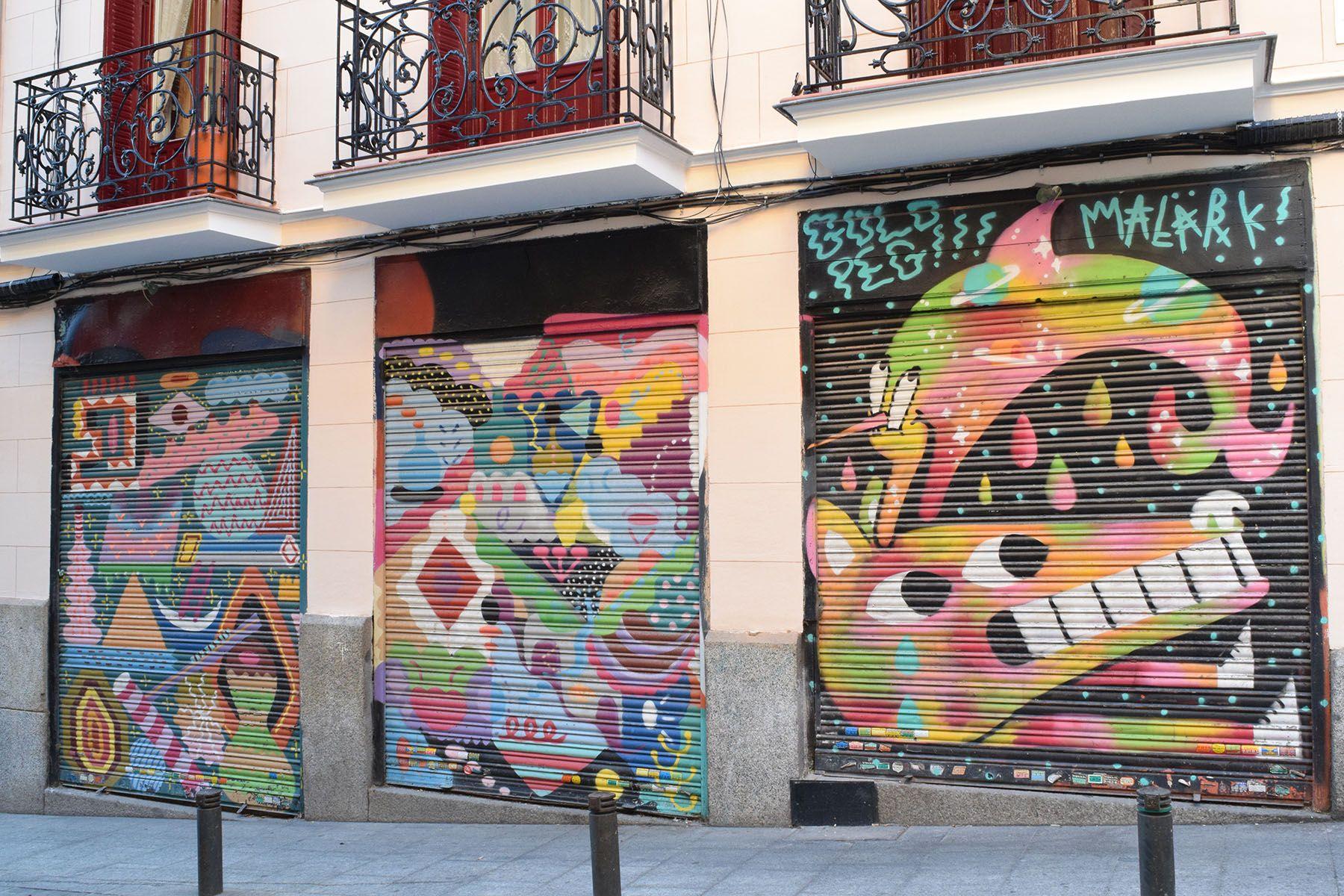 Calle San Blas Barrio Huertas Y Las Letras Madrid 2015 Arte Urbano Arte Graffiti