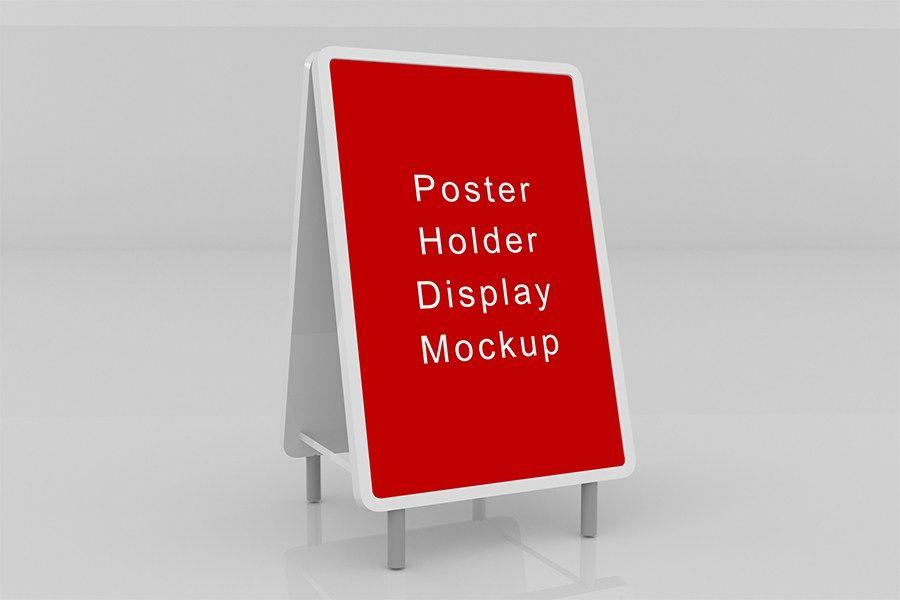 Poster Holder Display Mockup