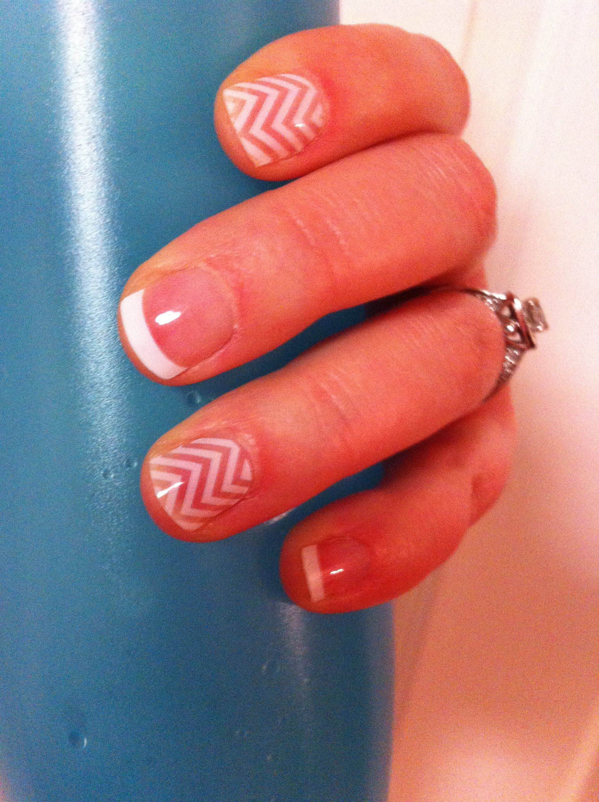 Medium French Tip with Chevron Jamberry wraps! Order yours at https ...