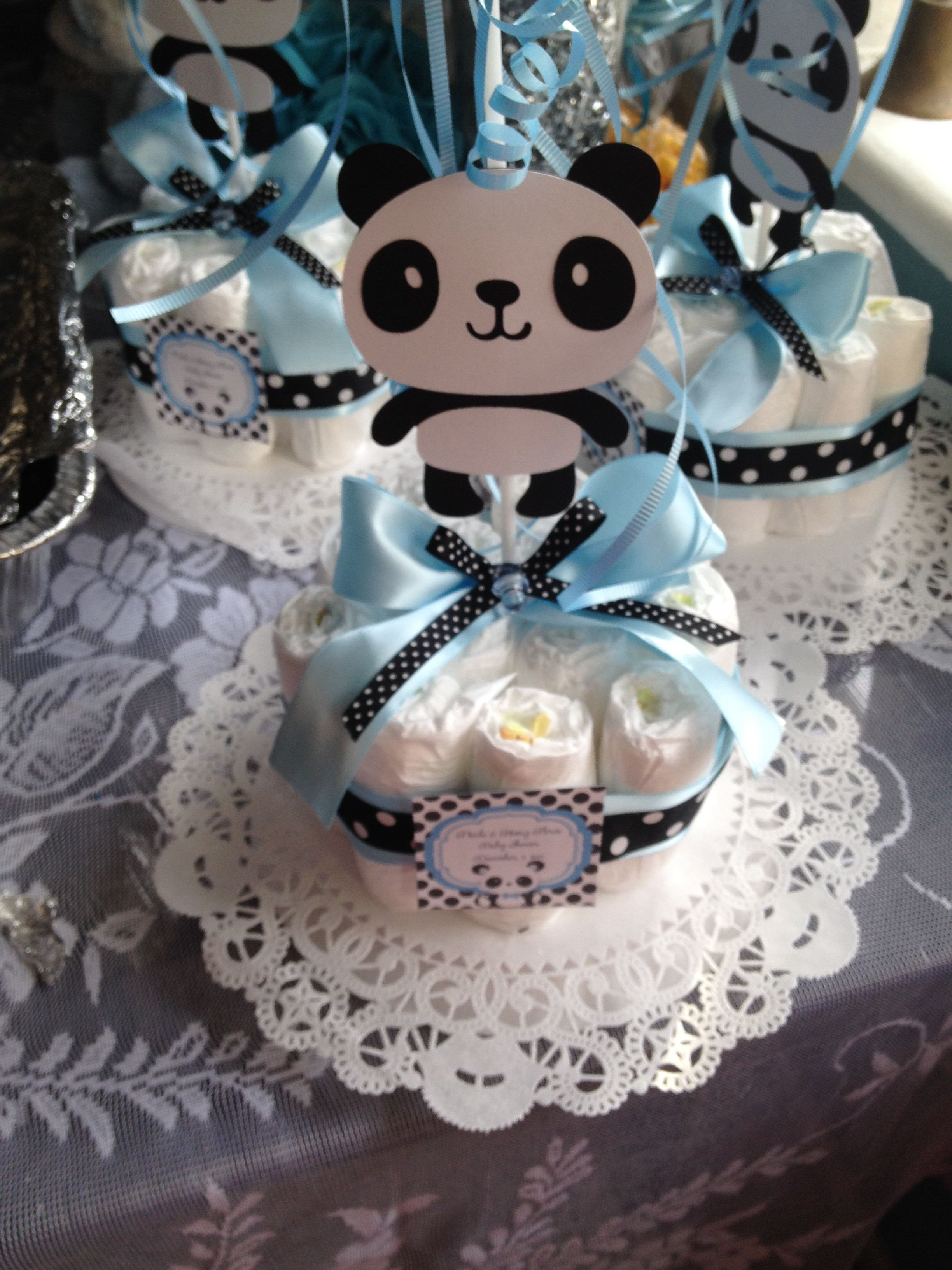 Panda Center Pieces For Baby Shower With Images Panda Baby