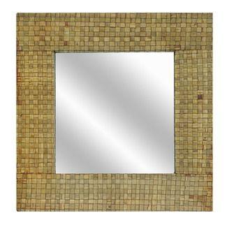 Crestview Beveled Bamboo Wall Mirror