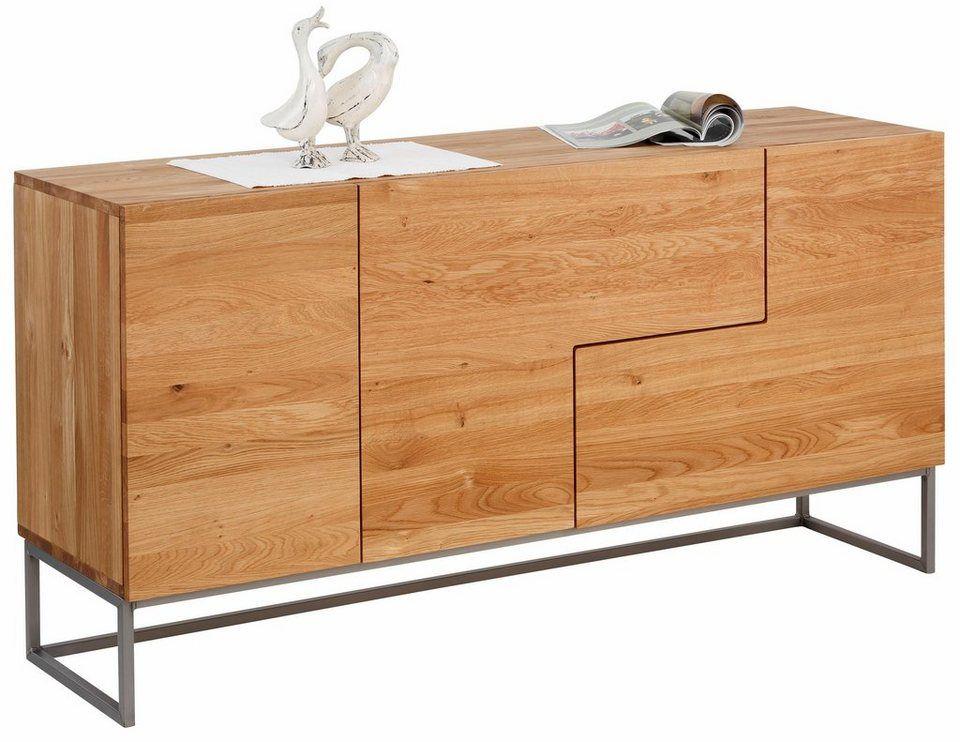 Home Affaire Sideboard Svear Breite 160 Cm Aus Massiver Eiche