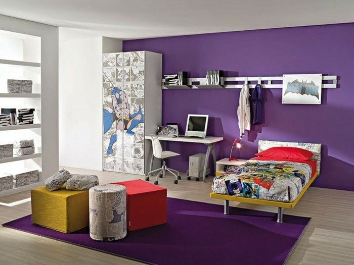 Carpet Purple Children S Fashion Boys Room Wall Accent