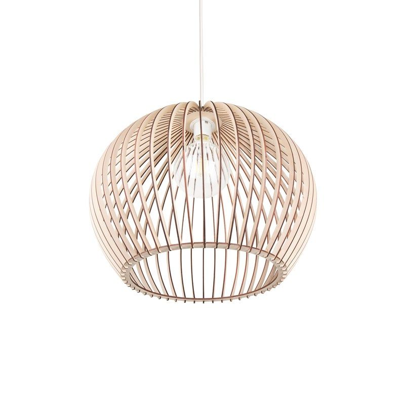 Kwud Modern Scandinavian Style Ceiling Mount Wood Pendant Lighting Lamp Shade With E26 27 Base In 2020 Scandinavian Lamp Shades Scandinavian Lamps Lamp Design
