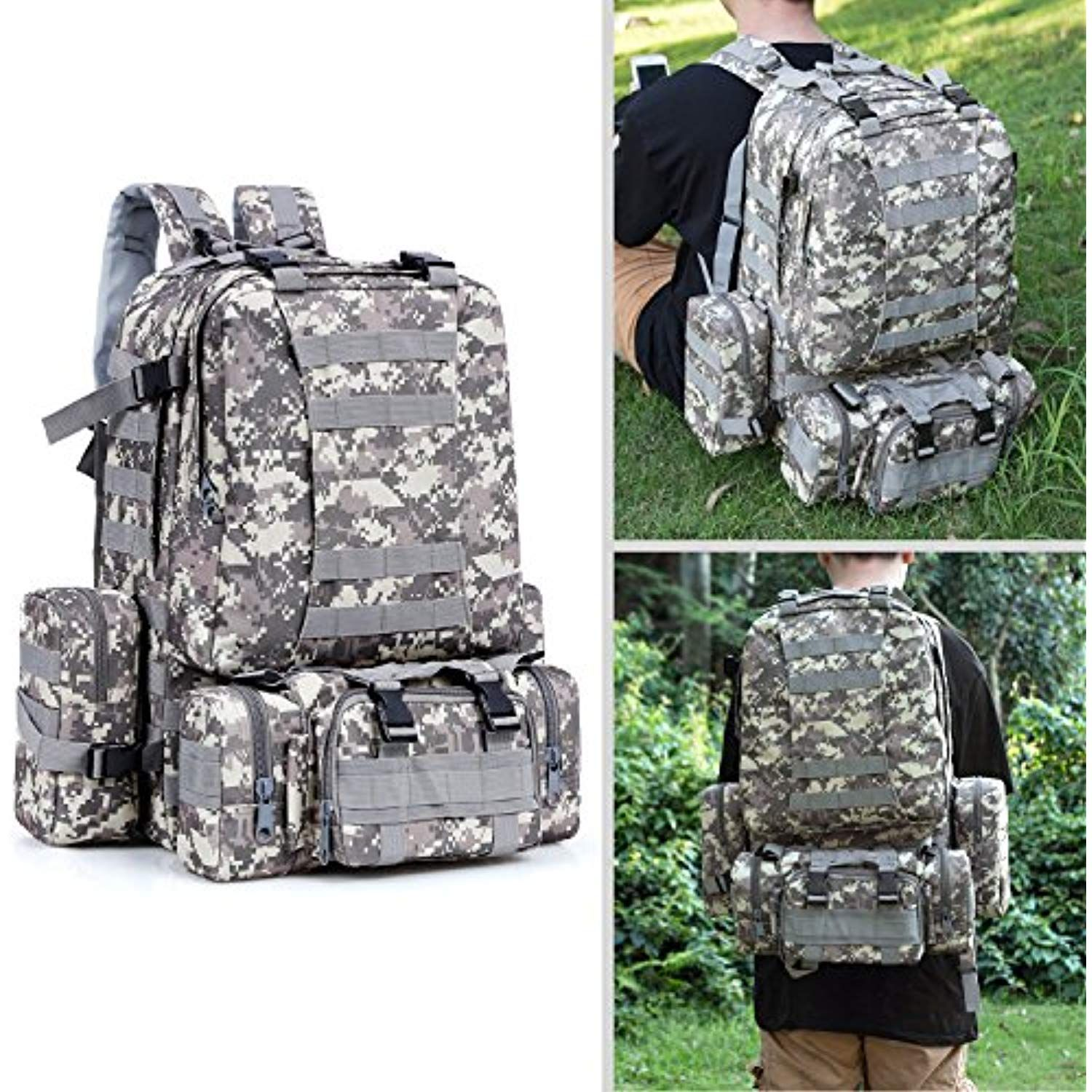 Outdoor Militarytactic Bag Nylon Waterproof Waist Bag Camouflage Sports Bags For Camping Hiking Molle Tactic Shoulder Bag Sports & Entertainment Picnic Bags