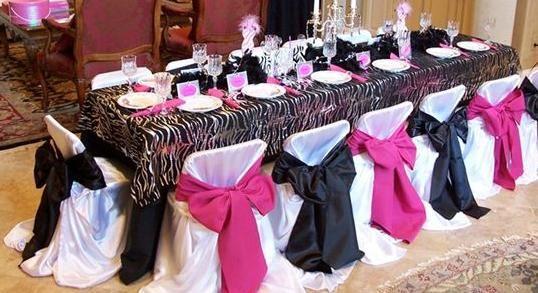 Elegant Zebra Print Table Setting Idea (Especially love the chair ...