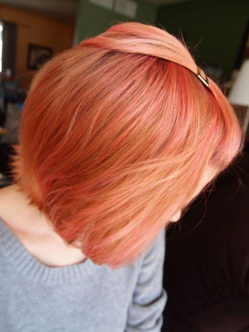 Peach Short Hair With Images Peinados Hair Styles Hair