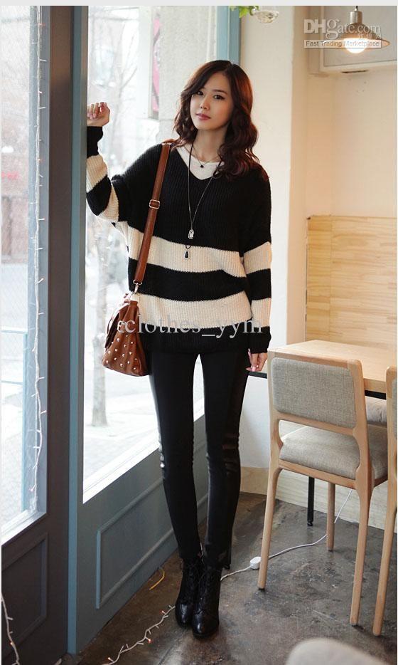 Fashion Korean Style Women S Casual Leggings Slim Woolen Pants