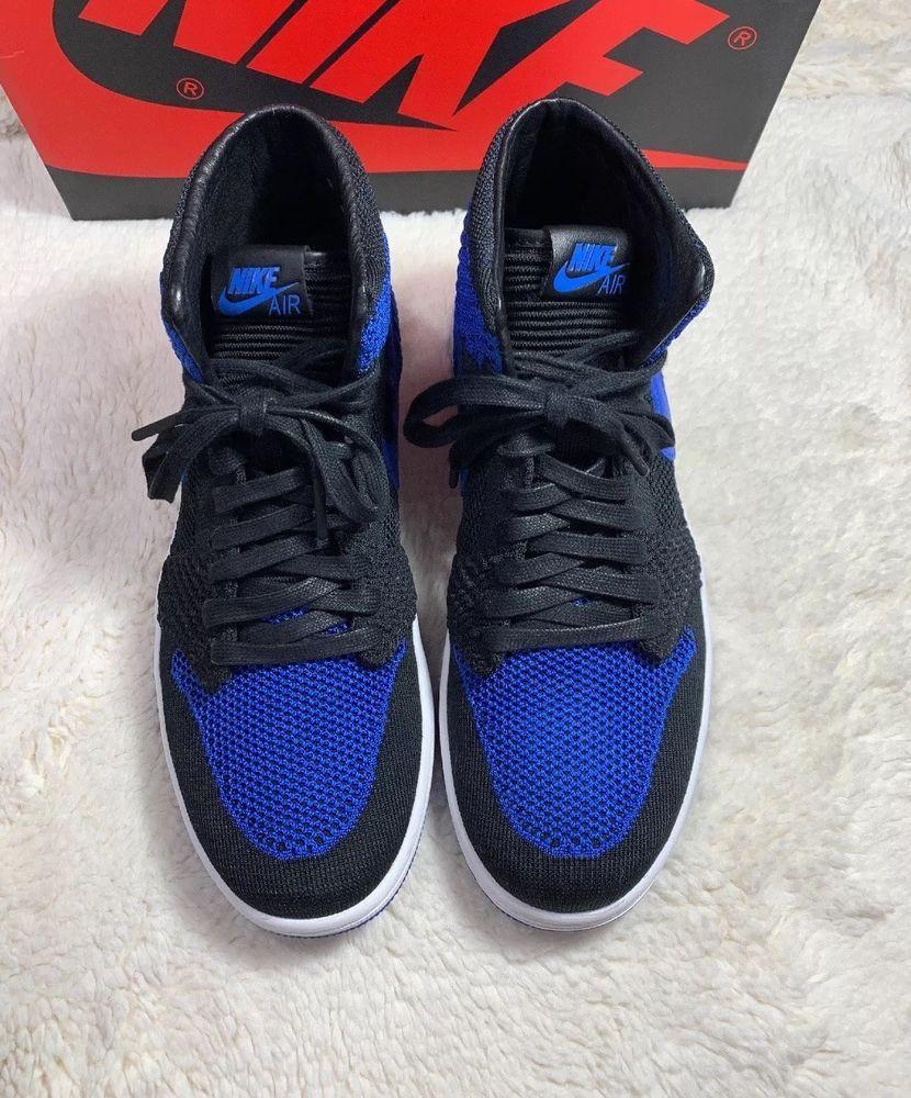 e46132810997 NIKE AIR JORDAN I RETRO 1 HI FLYKNIT HIGH OG BLACK GAME ROYAL BLUE WHITE  BRED 9  fashion  clothing  shoes  accessories  mensshoes  athleticshoes  (ebay link)