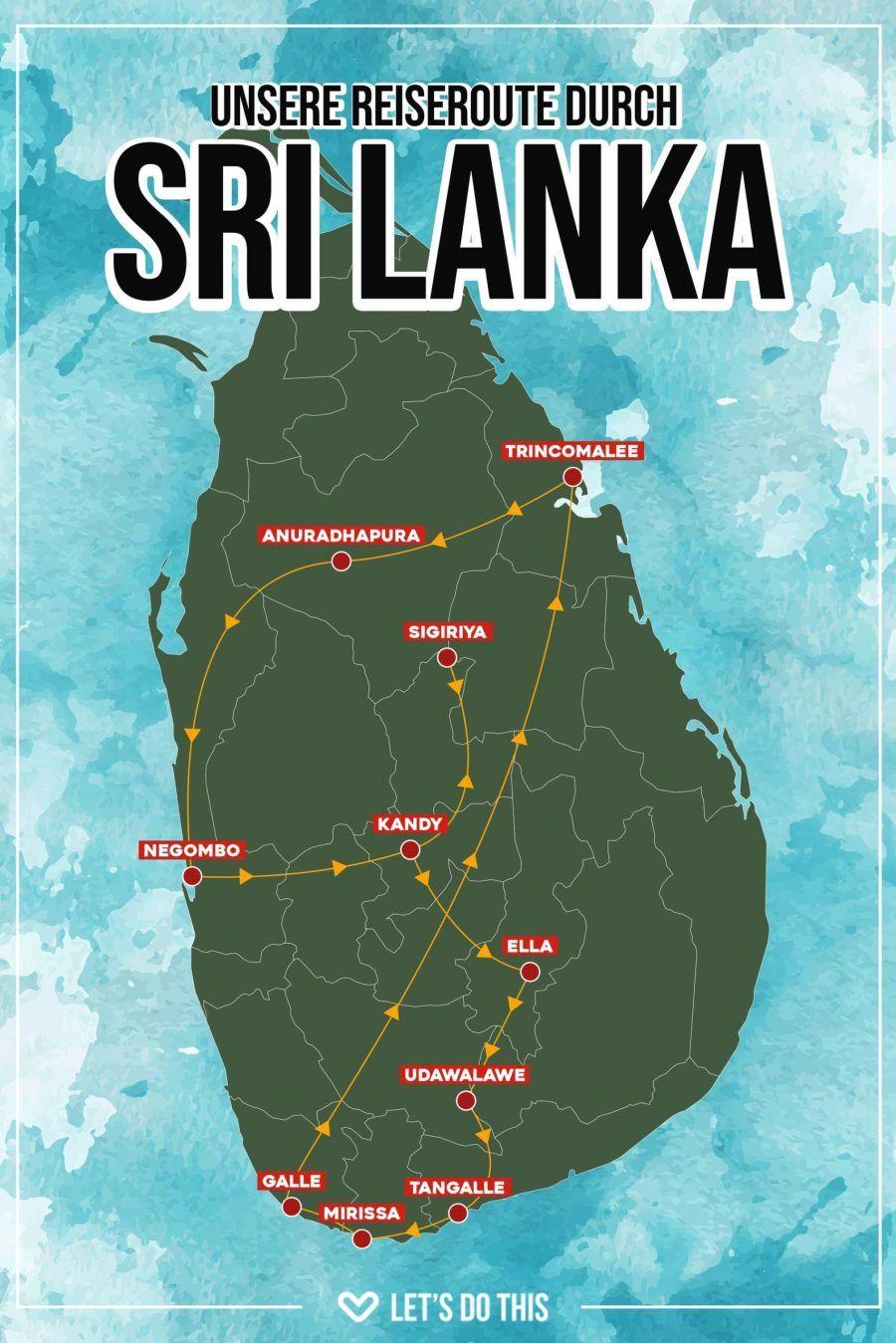 Sri Lanka Unsere Reiseroute Quer Durchs Land Lets Do This De In 2020 Sri Lanka Reisen Schone Orte