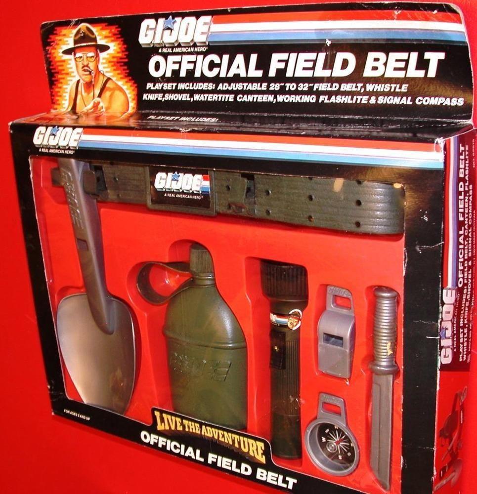 Vintage G.I. JOE OFFICIAL FIELD BELT PLAY SET Sgt