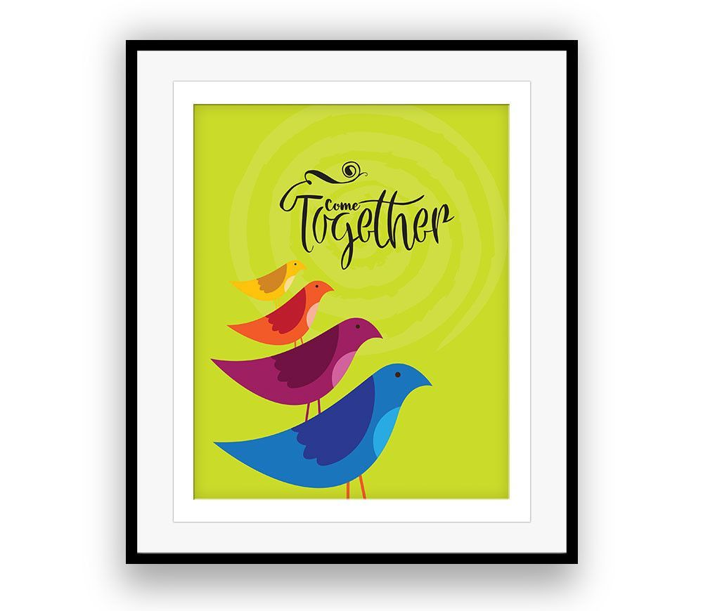 Beatles COME TOGETHER Music Poster Song Lyric Art (CANVAS PRINTS ...