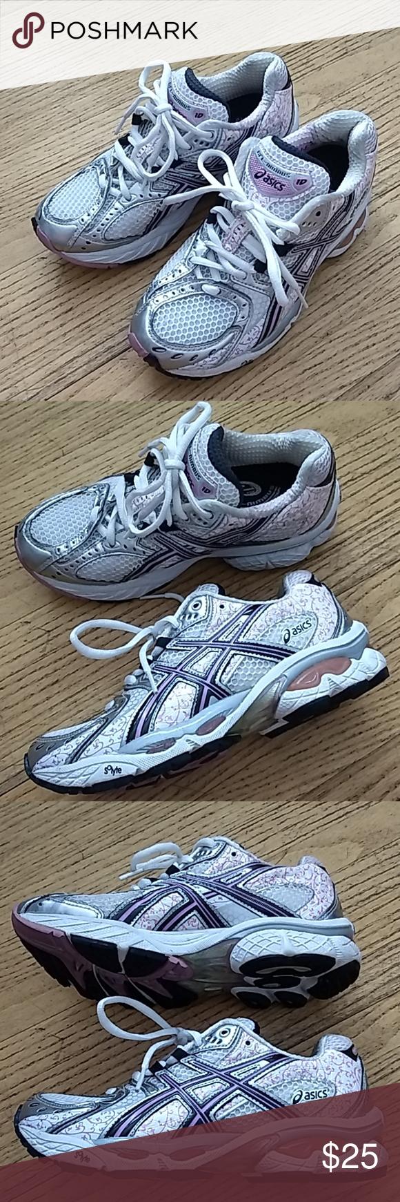 Asics gel-nimbus running shoes girls