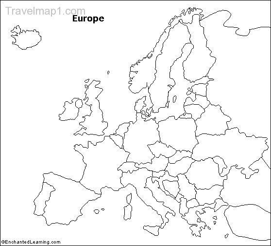 nice Map of europe empty  Travelquaz  Pinterest  Nice map