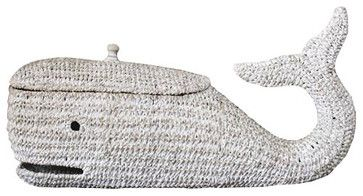 Rope Whale Storage Basket modern baskets