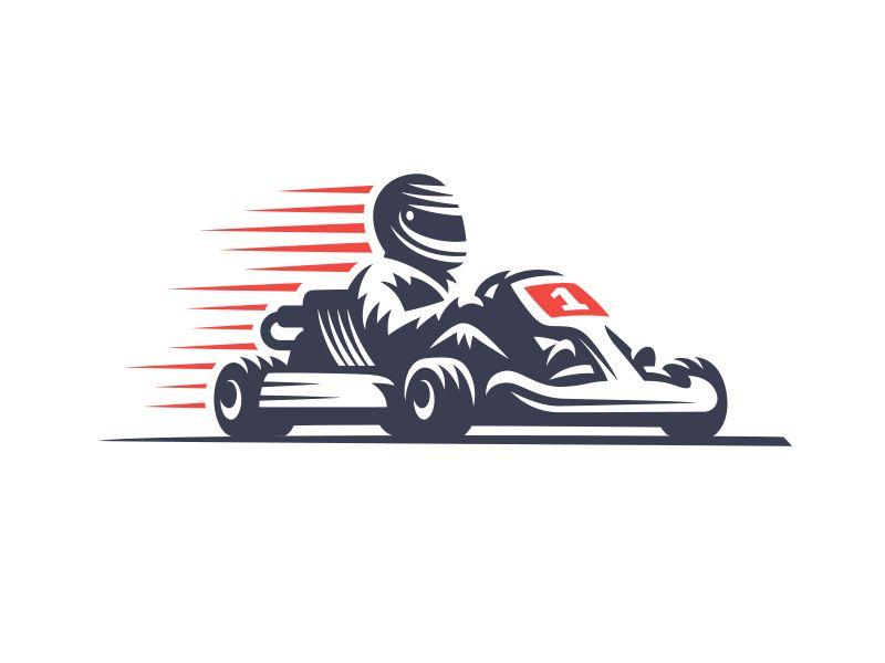 Karting Karting Kart Racing Logo Illustration