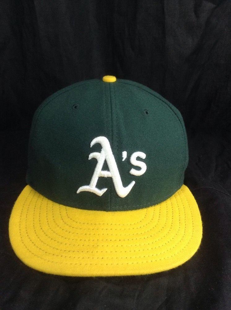 Oakland Athletics New Era Hat Official On Field Size 59Fifty Cap #Athletics #NewEra #BaseballCap