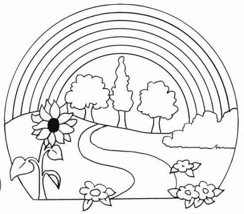 Desenhos Para Colorir Paisagens Naturais Natureza Vilaclub