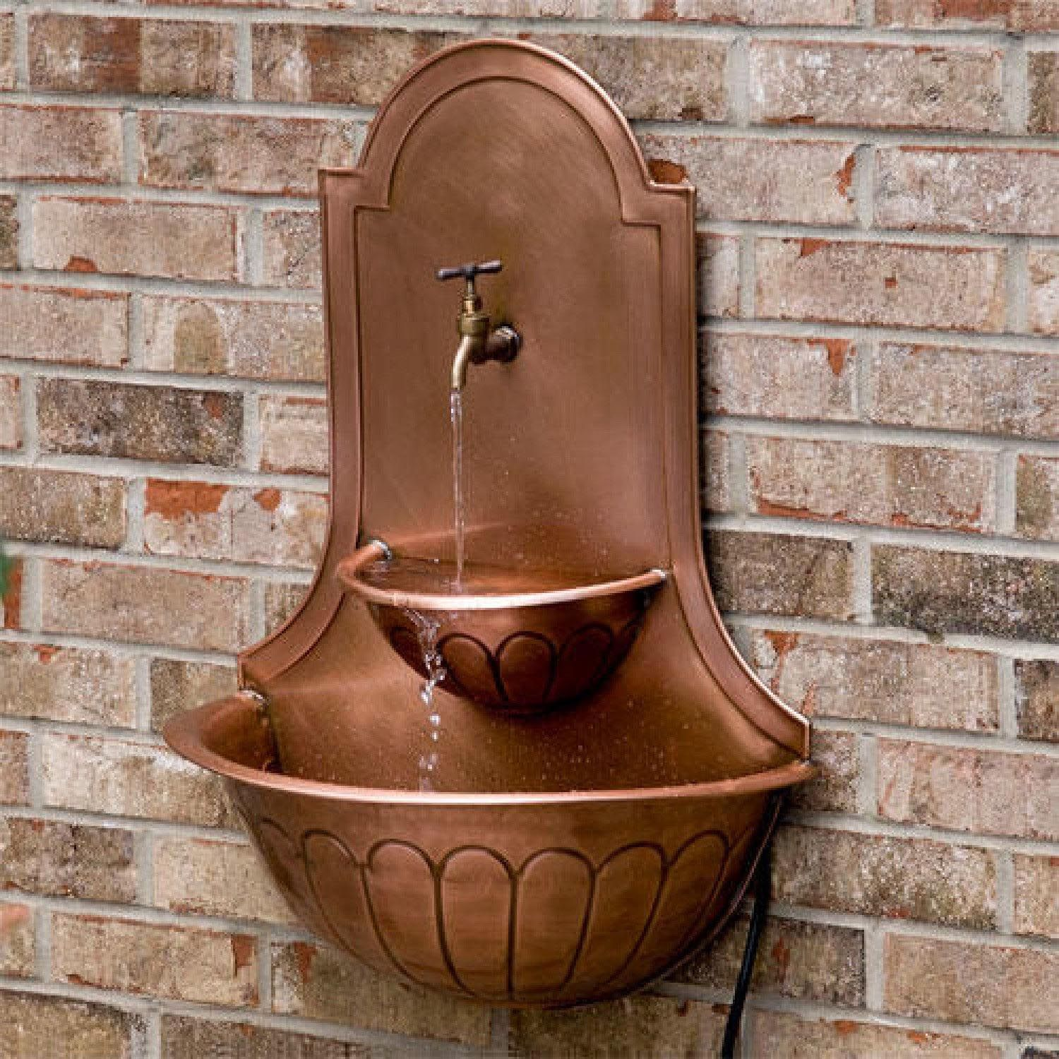 Copper Wall Fountain | Outdoor Fountains | Pinterest | Copper wall