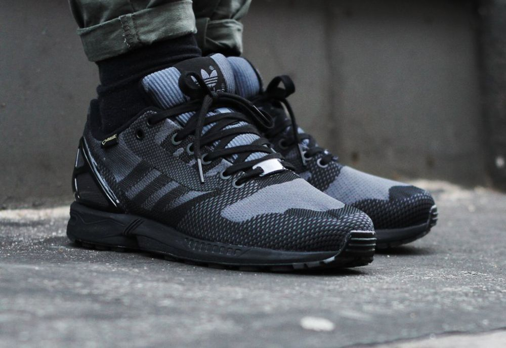Adidas ZX Flux Weave WHITEBLACKSOLID GREY Shoes B34472