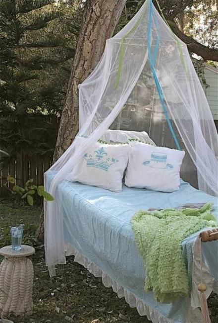 33 Romantic Outdoor Canopies and Tents Made with Mosquito Nets and Fabrics DIY Summer Decorating Ideas : tent netting fabric - memphite.com