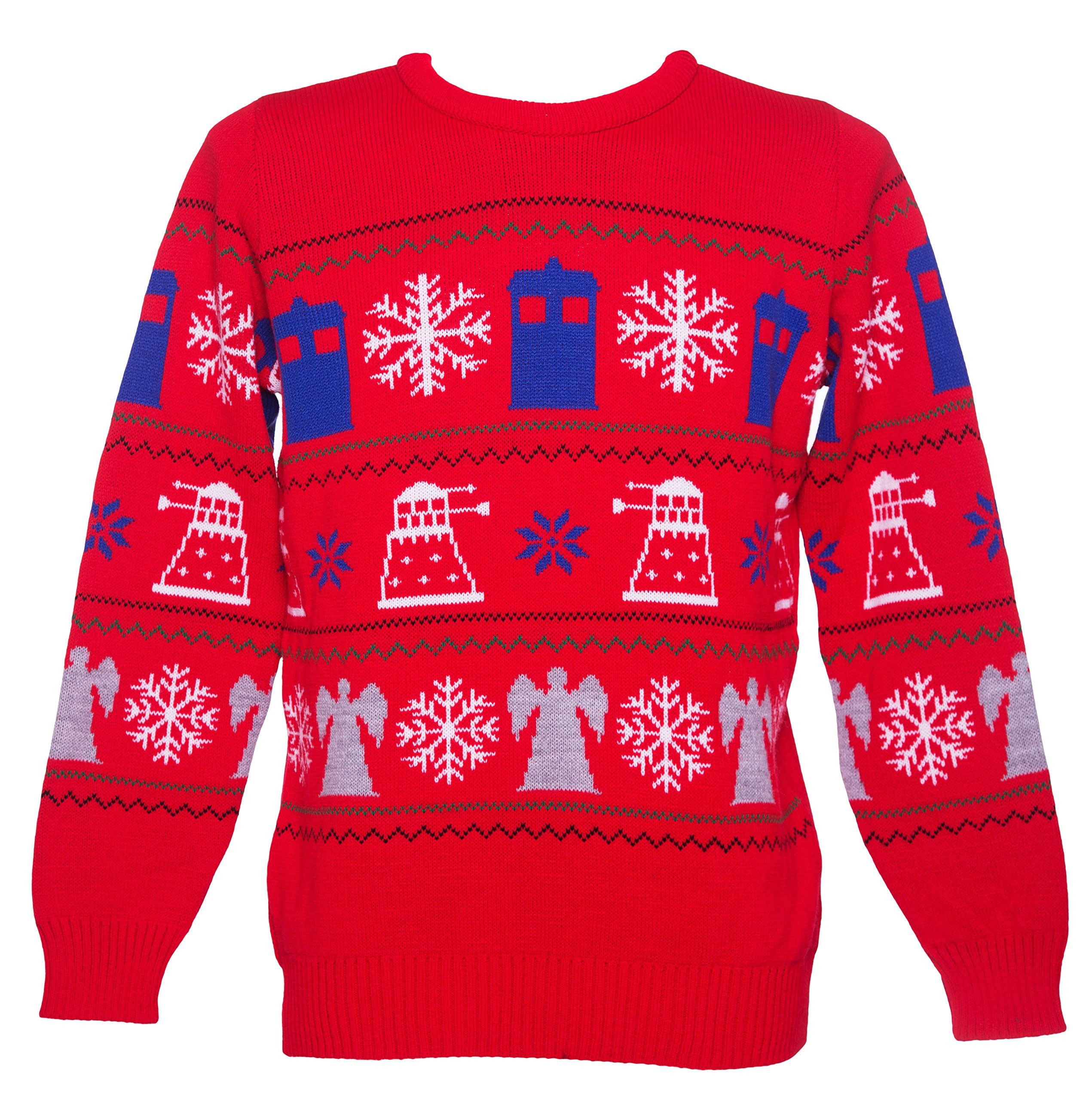Doctor Who Knitted Christmas Jumper Doctor Who Ugly Christmas