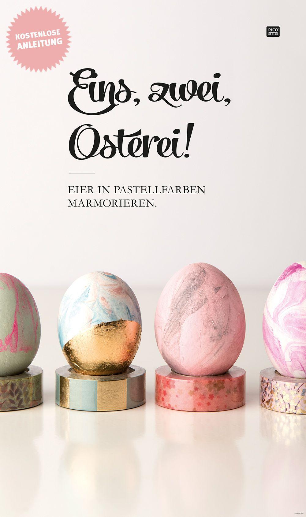 Der DIY Trend für Ostern: Ostereier marmorieren mit Acrylfarben ...
