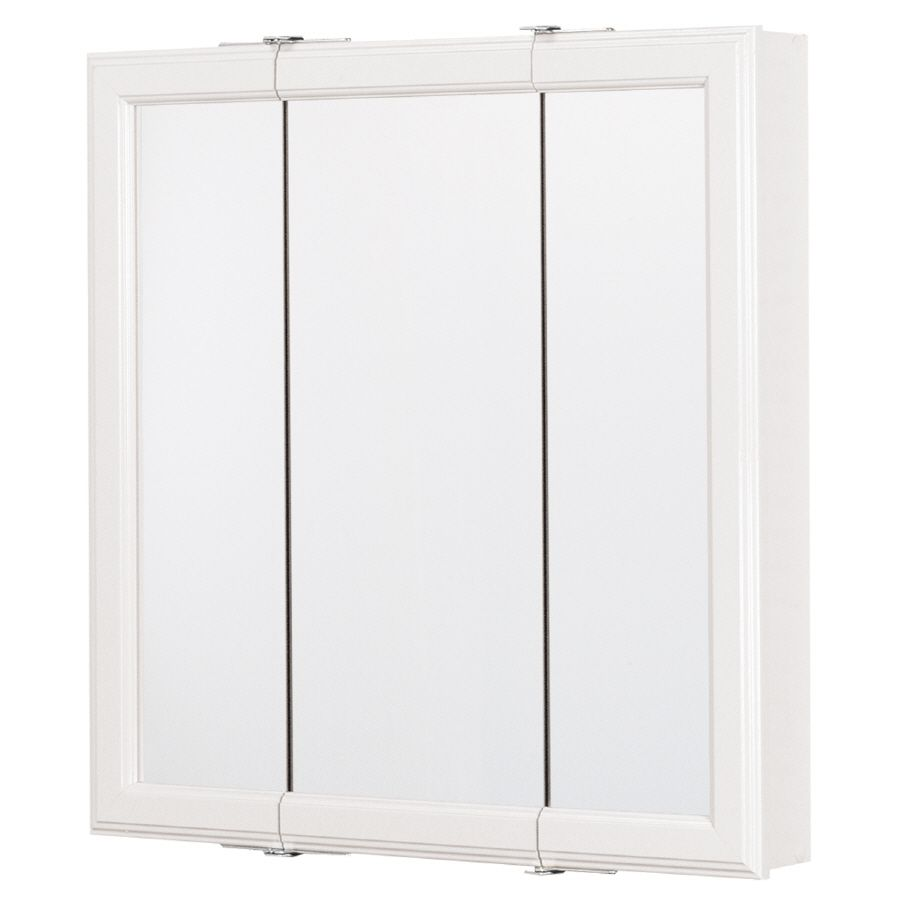 shop verdera in recessed bathroom cabinets com medicine storage cabinet aluminum white mirrored at kohler surface lowes pl x rectangle