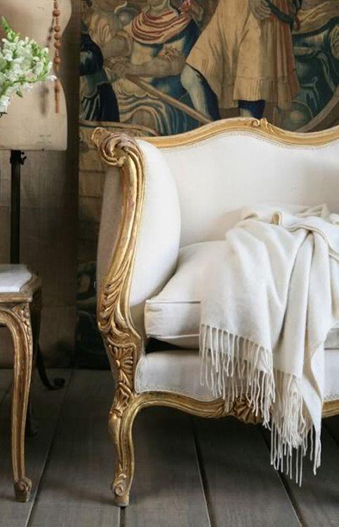 White W French Gilt Decor Home Decor Furniture