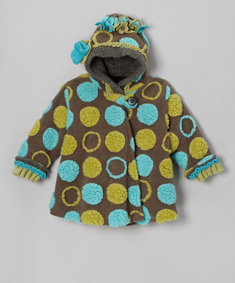 Corky u company charcoal polka dot wrap swing coat toddler u girls