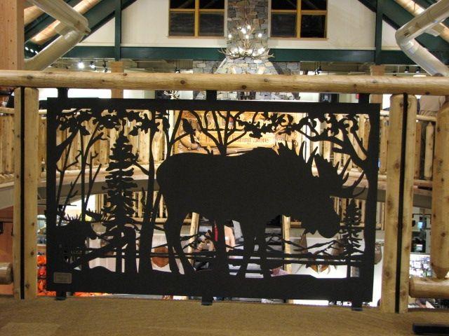 Custom Made Metal Art Railing For Balcony Amp Stair Moose Metal Art Deck Railing