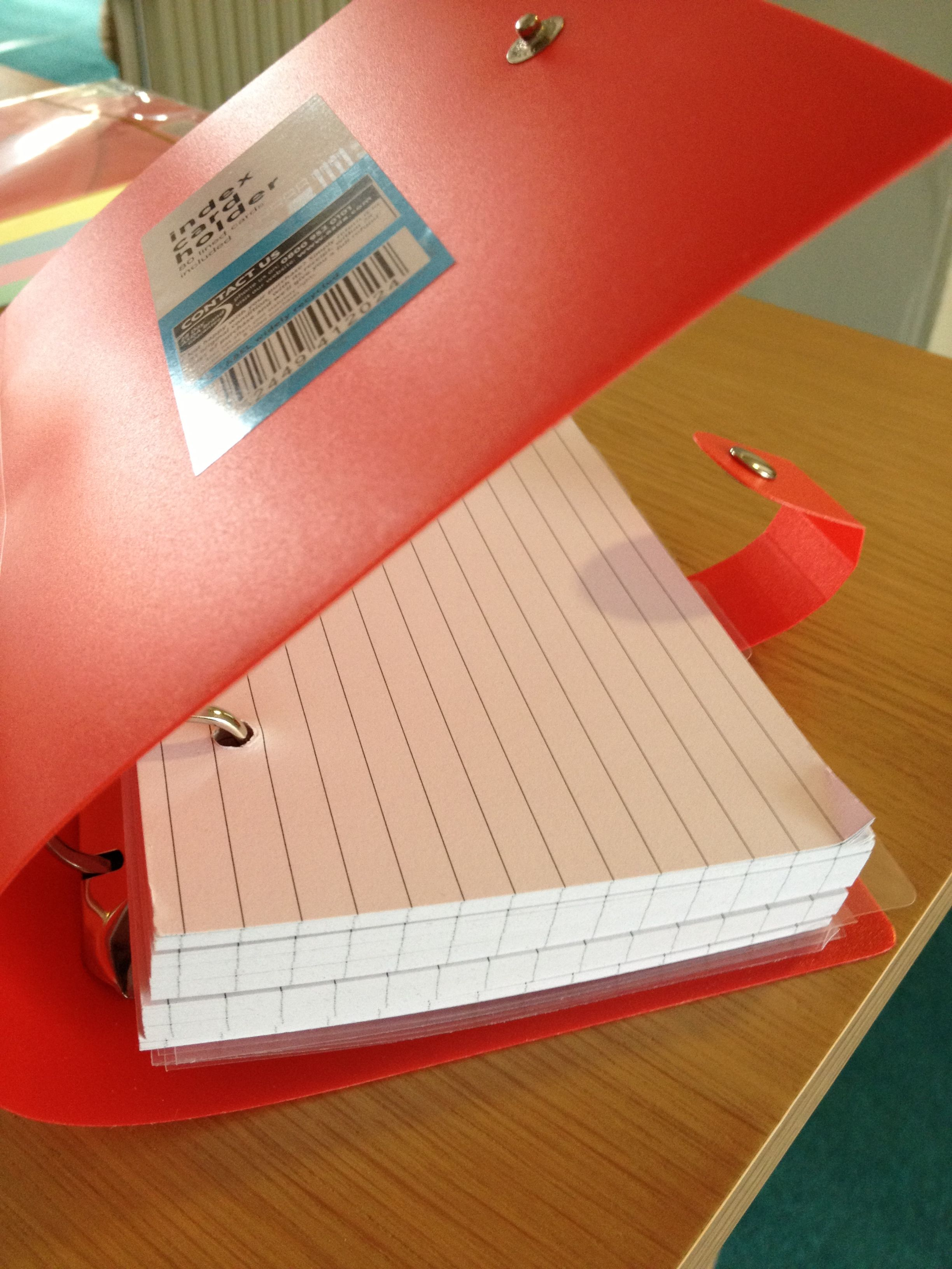 Love This Index Card Folder Bought For 1 50 At Asda Today Ideal For Revising Key Concepts Ideas Words Cards Index Cards Paper